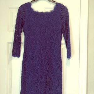 DVF Zarita lace blue dress